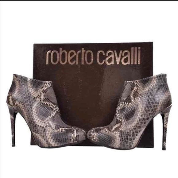 34e4766f39 Roberto Cavalli Shoes | Python Leather Ankle Boots | Poshmark